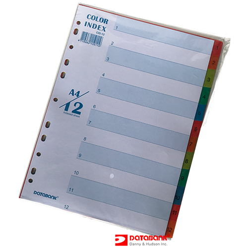CID - 12 COLOR INDEX DOCUMENT DIVIDERS A4