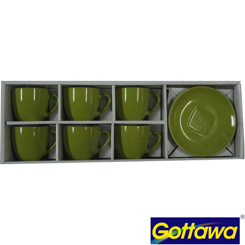 10130/GR GREEN COFFEE CUP 130CC