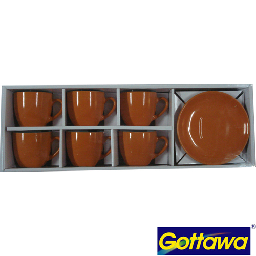 10130/OR ORANGE COFFEE CUP 130CC