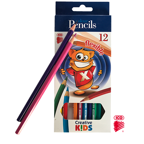 ICO FLEXIBLE 12 LONG COLOR PENCILS