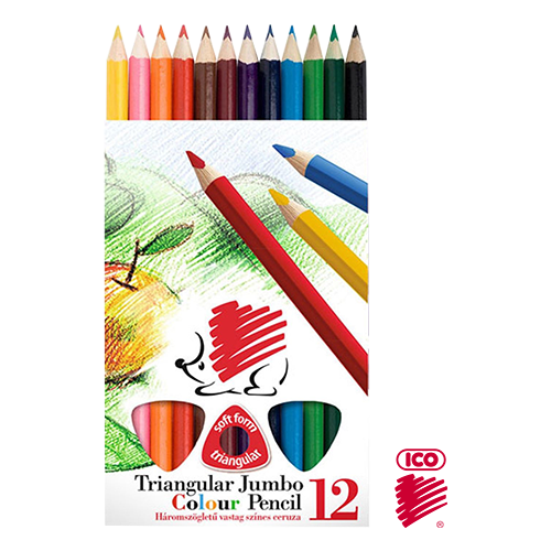 ICO TRIANGULAR COL. PENCIL SET 12