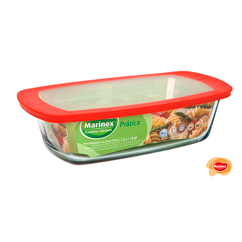 6216 RECTANGULAR LOAF WITH PL LID 27X15X7