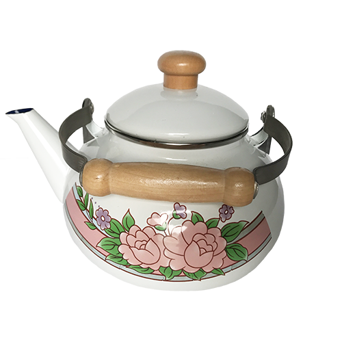 D040 FLOWER TEA KETTLE