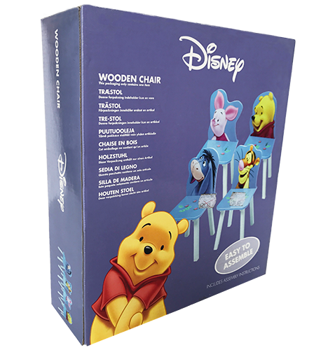 WINNIE THE POOH WOODEN CHAIR SET