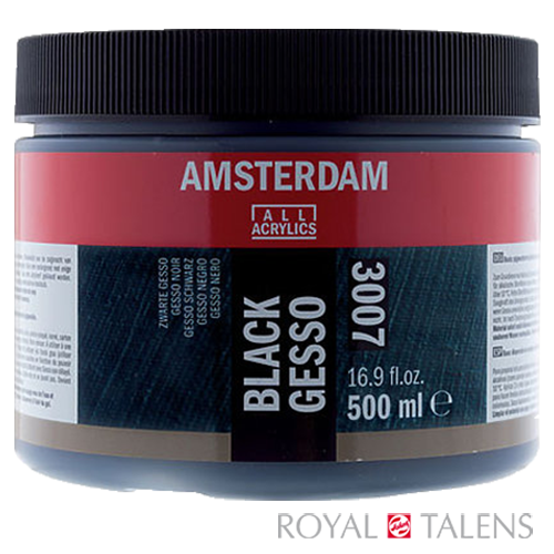 24183007 AAC GESSO BLACK 500ML