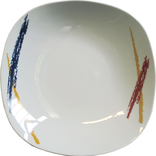 SQUARE SOUP PLATE 22 R-055 LINES