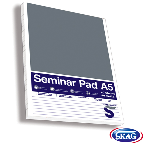 SEMINAR PADS RULED 40SH.A5