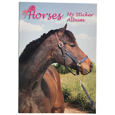 126027 STICKER ALBUMM HORSES