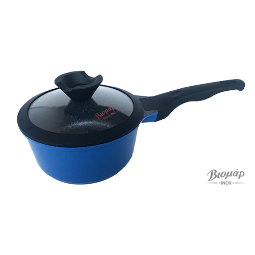SAUCEPAN D.CAST NO. 18 BLUE